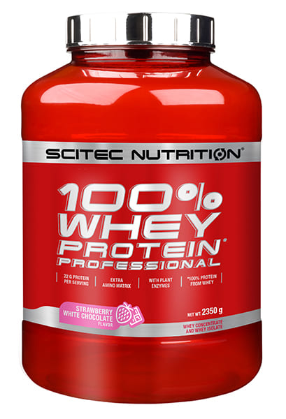 100% Whey Protein Professional 2.350 grs. Frutilla Chocolate Blanco