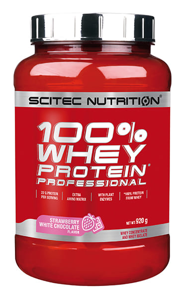 100% Whey Protein Professional 2 lb Frutilla Chocolate Blanco